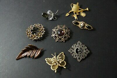 $ CDN5.01 • Buy Vintage Estate Find Jewelry Lady's Brooch Pins Rhinestone Colors More Lot