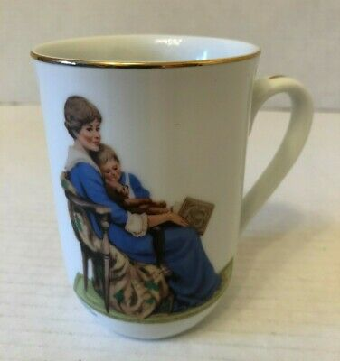 $ CDN9.99 • Buy Norman Rockwell Mug Bedtime 1982 The Norman Rockwell Museum Excellent Condition