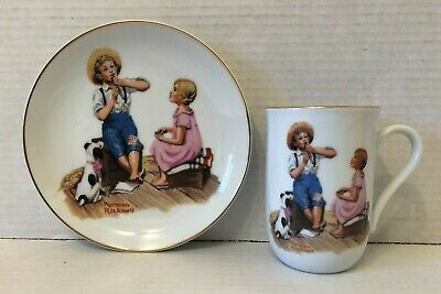 $ CDN11.99 • Buy Norman Rockwell Plate 1984 & Mug 1982 Music Master Sold As A Set Ex Condition