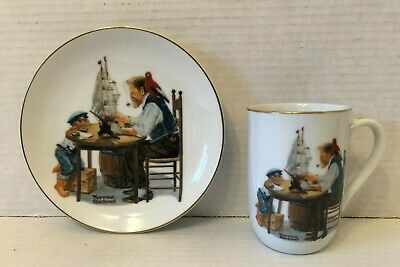 $ CDN11.99 • Buy Norman Rockwell Mug 1982 & Plate 1984 For A Good Boy Sold As A Set Ex Condition