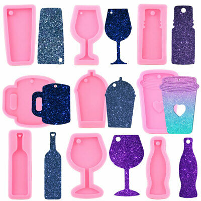 $4.40 • Buy Wine Glass Resin Epoxy Silicone Molds Bottle Cup Craft Keychain Pendant Jewelry