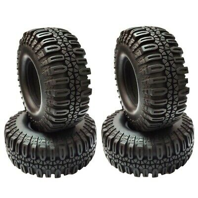 £19.99 • Buy 4PCS 108MM 1.9in Rubber Rocks Tyres Wheel Tires For 1/10 RC Rock Cler Axial N7X7