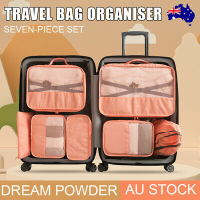 AU16.53 • Buy 4Pcs Packing Cubes Travel Pouch Luggage Organiser Clothes Suitcase Storage Bags