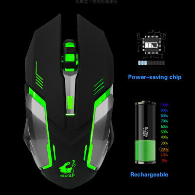 AU11.99 • Buy Optical Wireless Bluetooth USB Rechargeable Mouse Mice For Laptop PC Computer