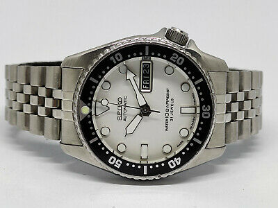 $ CDN6.90 • Buy Seiko Diver Automatic Watch 7s26-0030 Skx013 White Submariner Mod Sn 770022
