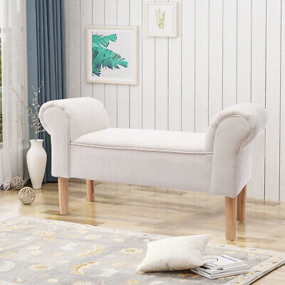 £49.95 • Buy Chenille Fabric Window Seat Bench Footstool Bed End Sofa Chair Lounge Bedroom Uk