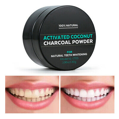 AU6.75 • Buy 30g Activated Charcoal Teeth Whitening Powder Natural Coconut Tooth Whitener