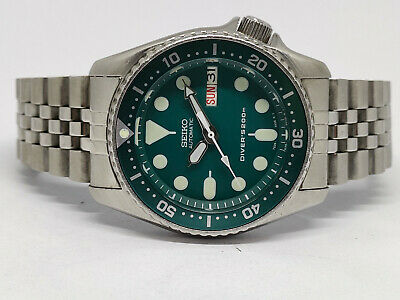 $ CDN4.08 • Buy Seiko Diver Automatic Watch 7s26-0030 Skx013 Green Face Mod Sn 9n1646