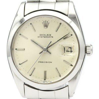 $ CDN2848.48 • Buy Vintage ROLEX Oyster Date Precision 6694 Steel Hand Winding Mens Watch BF523435
