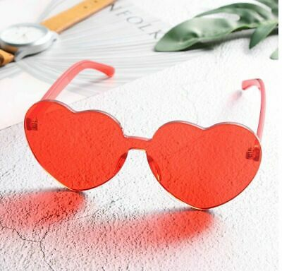 AU9.99 • Buy Sunglasses For Womens Oversized Candy Color Heart Shaped Clear Lens Fashion