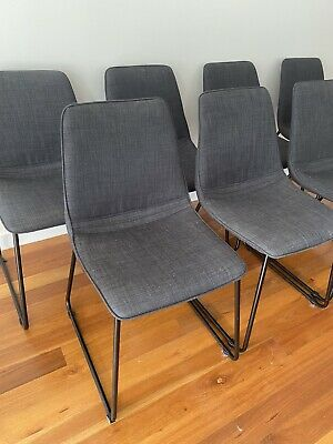 AU550 • Buy Dining Chairs 8 Charcoal Fabric From United Interiors