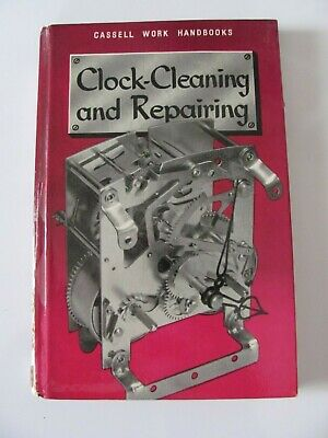 Vintage Clock Cleaning And Repairing  Book  Parts Tools Movements Teaching • 10.88£