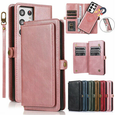 AU18.99 • Buy Samsung S21+ S20 Note 20 Ultra S10 S9 S8 Leather Magnetic Wallet Card Case Cover
