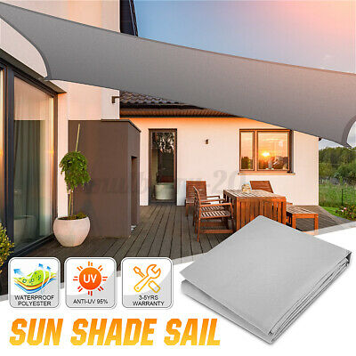 AU28.98 • Buy 🔥Extra Heavy Duty Sun Shade Sail Cloth UV Block Square Rectangle Outdoor Awning