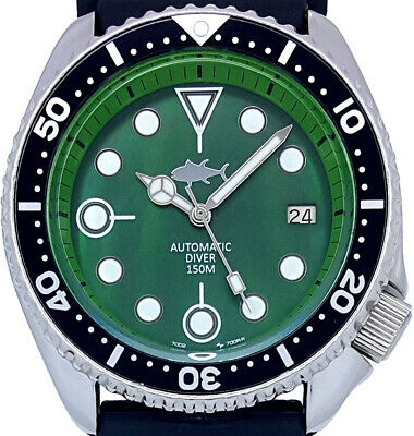 $ CDN98.14 • Buy Vintage Watch SEIKO Diver 7002 Mod W/Mercedes Set On Green Mother Of Pearl Dial