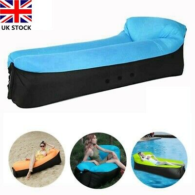 £12.99 • Buy Inflatable Sun Lounger Outdoor Furniture Camping Lazy Bag Air Sofa Beach Bed