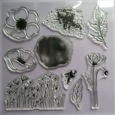£3.99 • Buy Craft / Cardmaking Clear Unmounted Stamp - Poppy Flower / Symapthy Remembrance