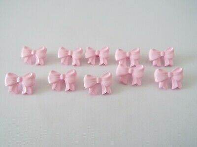 £2.30 • Buy 10 Quality Cute Pink Bows Novelty Buttons 16mm Baby Children E36