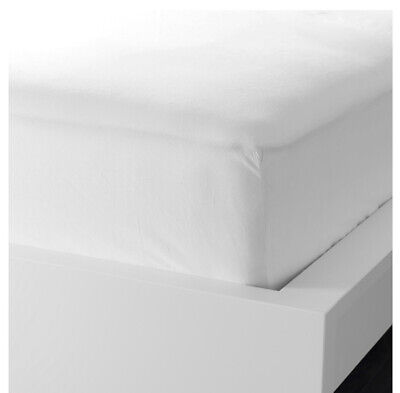 IKEA DVALA Fitted Sheet, White Single • 10.50£