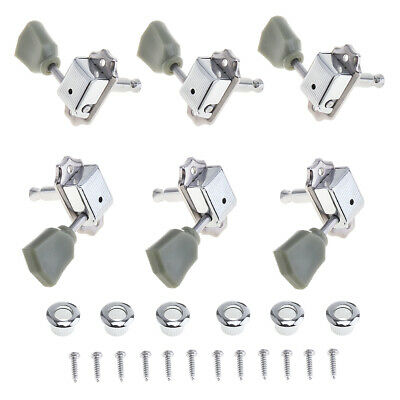 $ CDN10.07 • Buy 6Pcs Acoustic Guitar Tuning Pegs Tuners Machine Heads Chrome Electric Part 3R3L