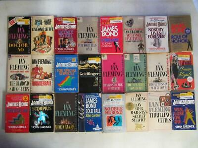 $59.95 • Buy BIG Lot (24) JAMES BOND 007 Vintage Books LIVE AND LET DIE, THE SPY WHO LOVED ME