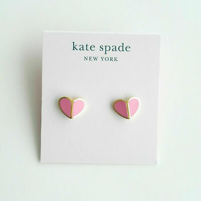 $ CDN11.91 • Buy Kate Spade New York Pink Heritage Spade Heart Earrings