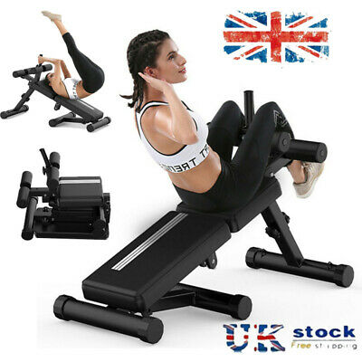£58.99 • Buy Adjustable Foldable Weight AB Bench Flat Incline Decline Home Gym Fitness Sit Up