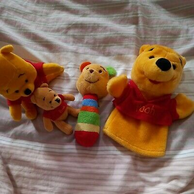 Winnie The Pooh Puppet, Rattle And Toys. • 2.50£