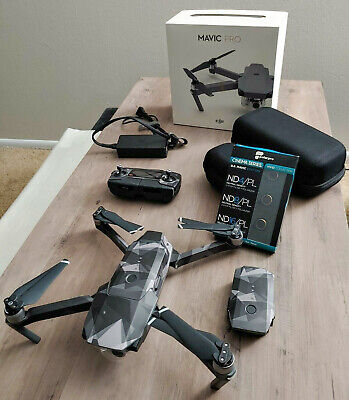 AU524.35 • Buy DJI Mavic Pro Drone With Additional Battery Case And ND Filters 100% Condition