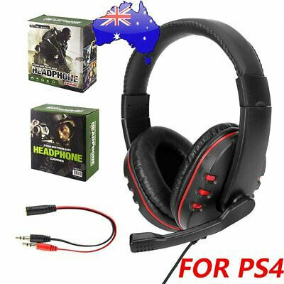 AU16.89 • Buy 3.5mm Gaming Headset Headphone With Microphone For PC Laptop Sony PS4 Xbox One