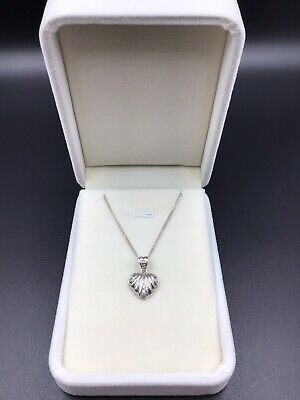 AU100 • Buy 9ct (375) White Gold Cubic Zirconia Love Heart Pendant & 9ct White Gold Necklace