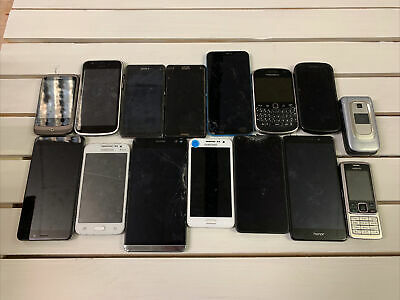 $ CDN50.13 • Buy Large JOB LOT MOBILE PHONES X15 Mixed Lot Samsung Etc UNTESTED Smart Phone #1