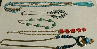 $ CDN19.96 • Buy Mixed Lot 5 Beaded Pendant Tassel Necklaces Lia Sophia Express Unbranded
