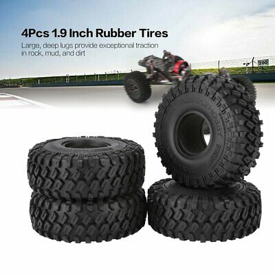 £26.99 • Buy 1.9inch Rubber Wheel Tires 123mm For SCX10 D90 TRX-4 CC01 1:10 RC Crawler Axial