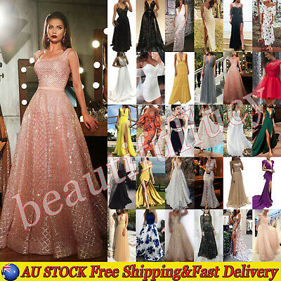 AU24.29 • Buy Women Prom Ball Gown Formal Evening Cocktail Party Wedding Bridesmaid Long Dress