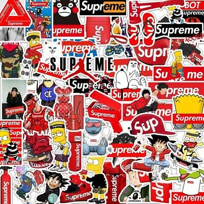 £5.99 • Buy Supreme Stickers 50 Pcs - FAST SHIPPING - Skateboard Stickers Guitar Hypebeast