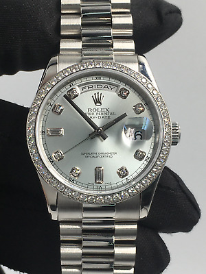 £36995 • Buy Rolex Day-date Platinum Model 118346 In Excellent Condition 2008 With Box Papers