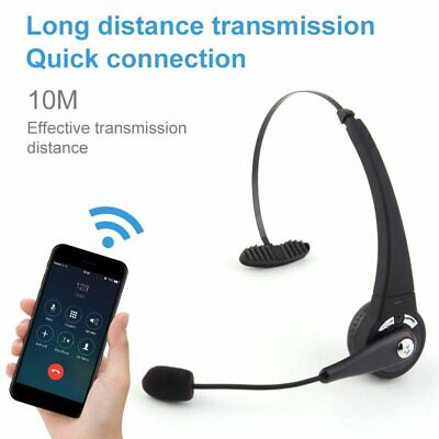 £17.09 • Buy Wireless Bluetooth Headphones Noise Cancelling Headset Trucker Call Center PC