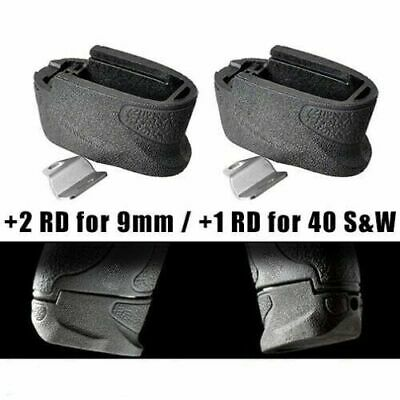 $19.79 • Buy 2 Pack For S&W M&P Shield Magazine Extension +2 Rounds 9mm / .40 Cal - Mag Base