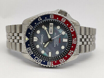 $ CDN2.82 • Buy Mother Of Pearl Black Modded Seiko Diver 7s26-0020 Skx007 Automatic Watch 975280