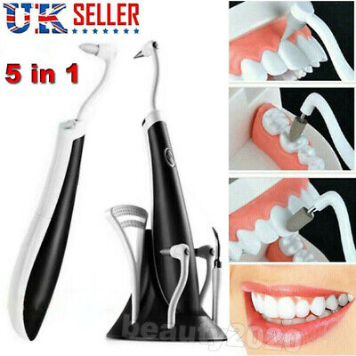 £13.59 • Buy 5In1 Tooth Polishing Cleaner Ultrasonic Electric Dental Oral Teeth Cleaning Kit