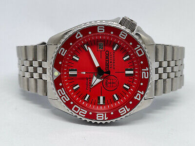 $ CDN68.93 • Buy Seiko Diver 7002-700a Prodiver Red Sub200t Dial Mod Automatic Mens Watch 450095