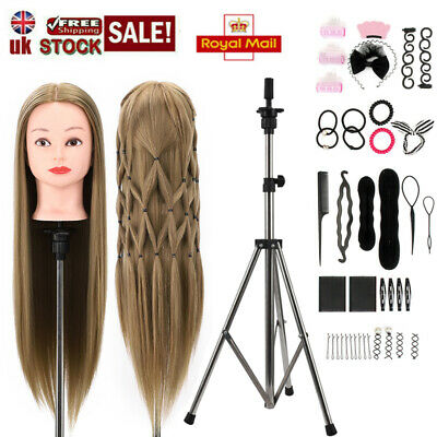 Salon 26  100%Synthetic Fibre Hairdressing Styling Training Head Mannequin Doll • 9.99£