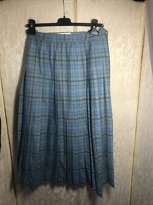 Cotswold Collection Ladies Wool Pleated  Tarten Skirt Size12 • 4£
