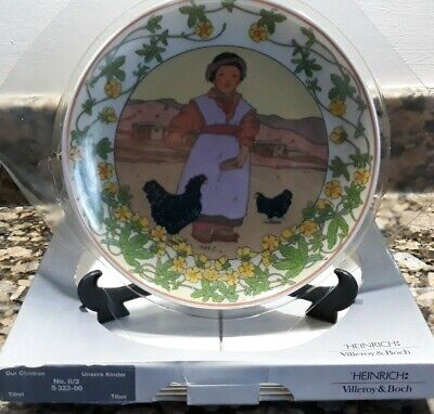 £18 • Buy VILLEROY & BOCH CHINA PLATE CHILDREN OF THE WORLD UNICEF No2 TIBET BOXED NEW VGC