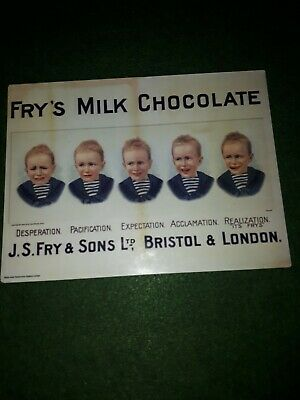 £13.99 • Buy Fry's Chocolate Advertising Sign 30x40cm Frys 5 Boys Reproduction Metal Wall Art