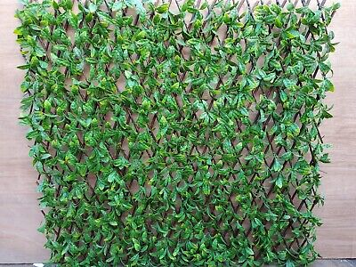 £44.95 • Buy Instant Hedge Artificial Screening With Beech Leaves  - 2M X 1M Extends
