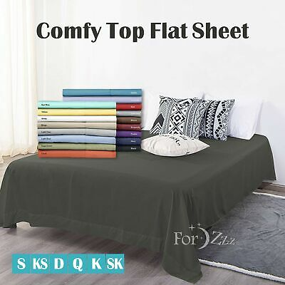 AU31.95 • Buy Soft Top Flat Sheet 1000TC Soft For Super King Single Double Queen Size Bed