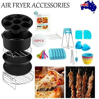 AU24.01 • Buy 2021 8 Inch Air Fryer Accessories Frying Cage Dish Baking Pan Rack Tray Pot  AU