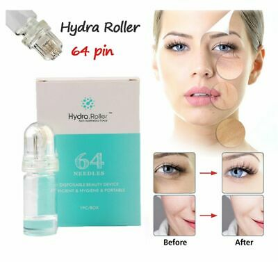 AU39.90 • Buy 64pin Hydra Derma Roller Micro Needle Mesotherapy Serum Injection Anti Acne Scar